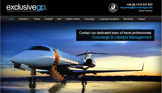 Exclusive GP web design portfolio example