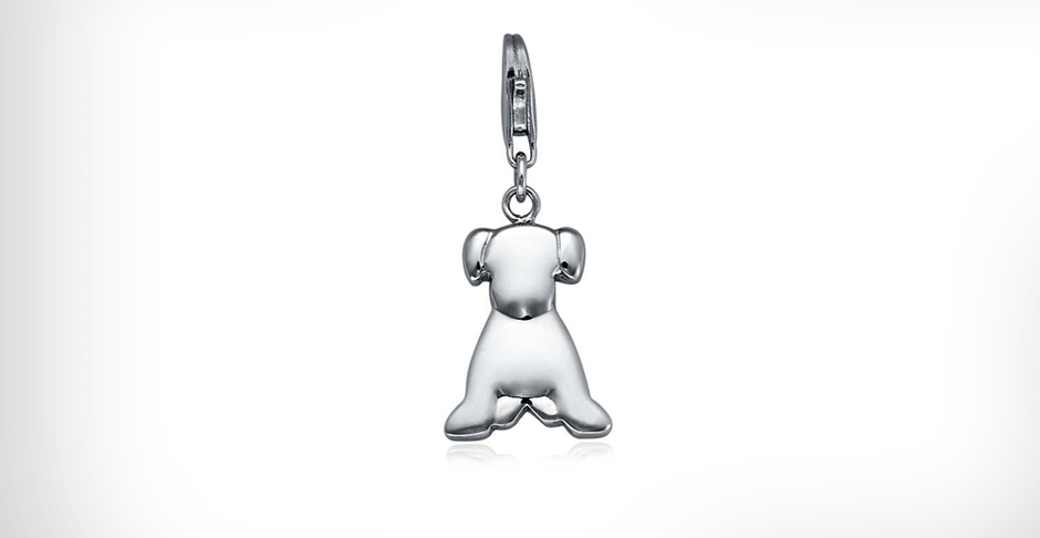 View Silver Dog Charms