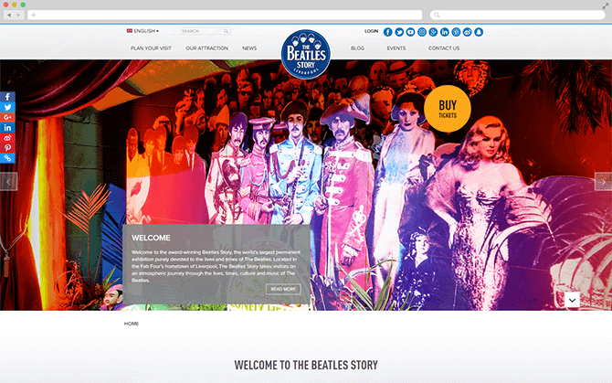 beatles website screenshot