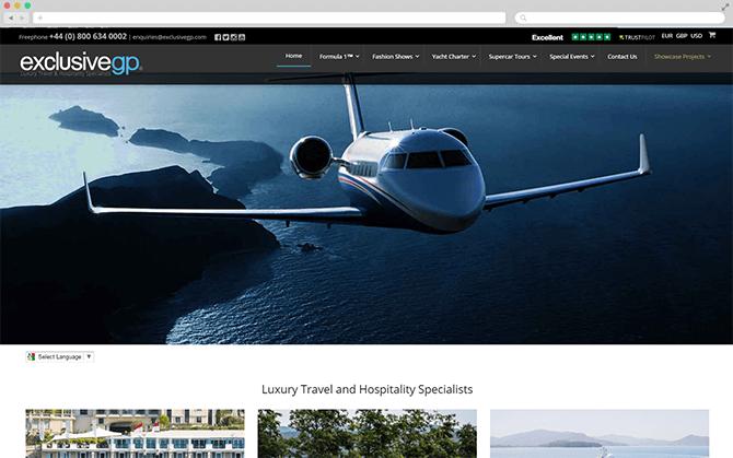 The Exclusive GP website screenshot