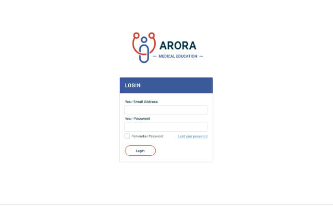 Arora website screenshot