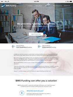 BMS Funding on iPad view