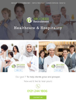 Brookes Recruitment on iPad view