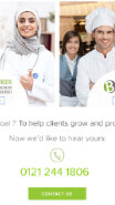 view of Brookes Recruitment website on mobile