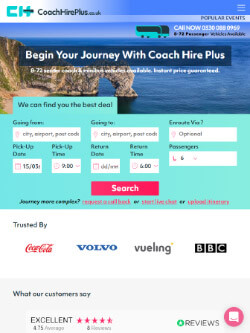 Coach Hire Plus on iPad view