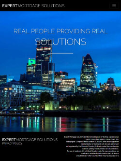 Expert mortgage solutions on iPad - mobile