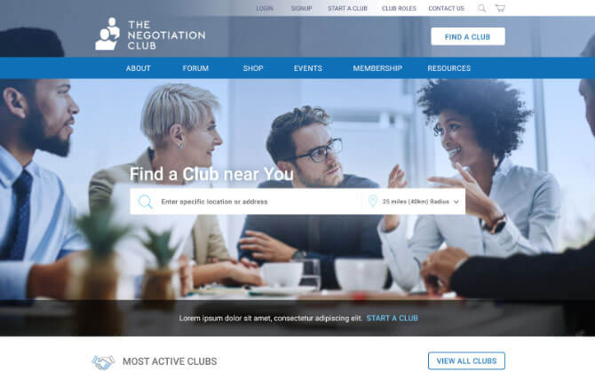 The negotiation club on mac - mobile