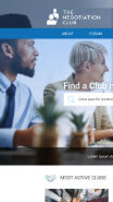 see The negotiation club website on mobile