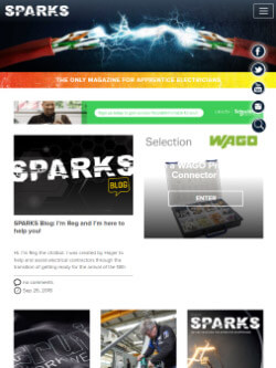 Sparks Magazine on iPad view