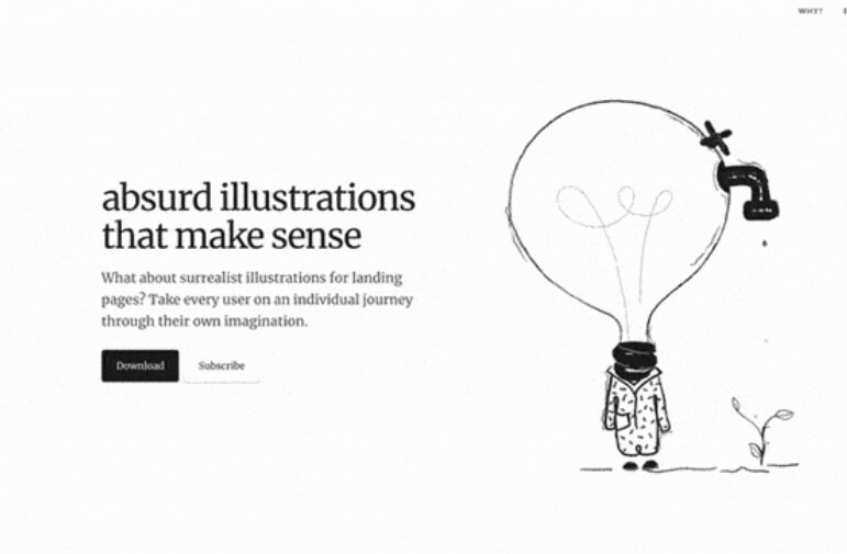 illustration web design trend in 2019