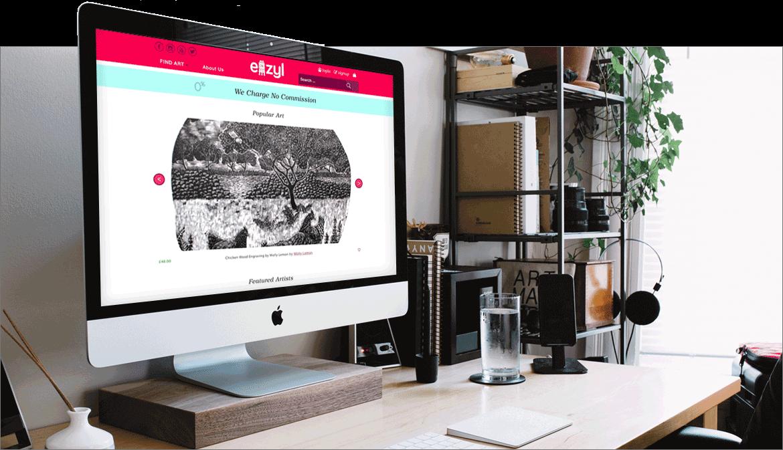 Screenshot of the Eazyl website