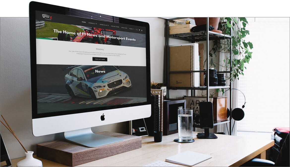 Screenshot of the f1.co.uk website