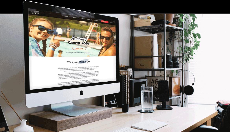 Screenshot of The USA Summercamp  website