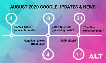 August 2020 Google Updates