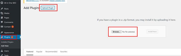 Upload a WordPress plugin