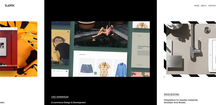 horizontal website scrolling example 3